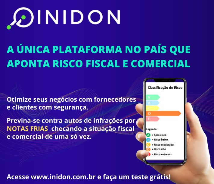 Imagem Inidon: A única plataforma no país que aponta risco fiscal e comercial
