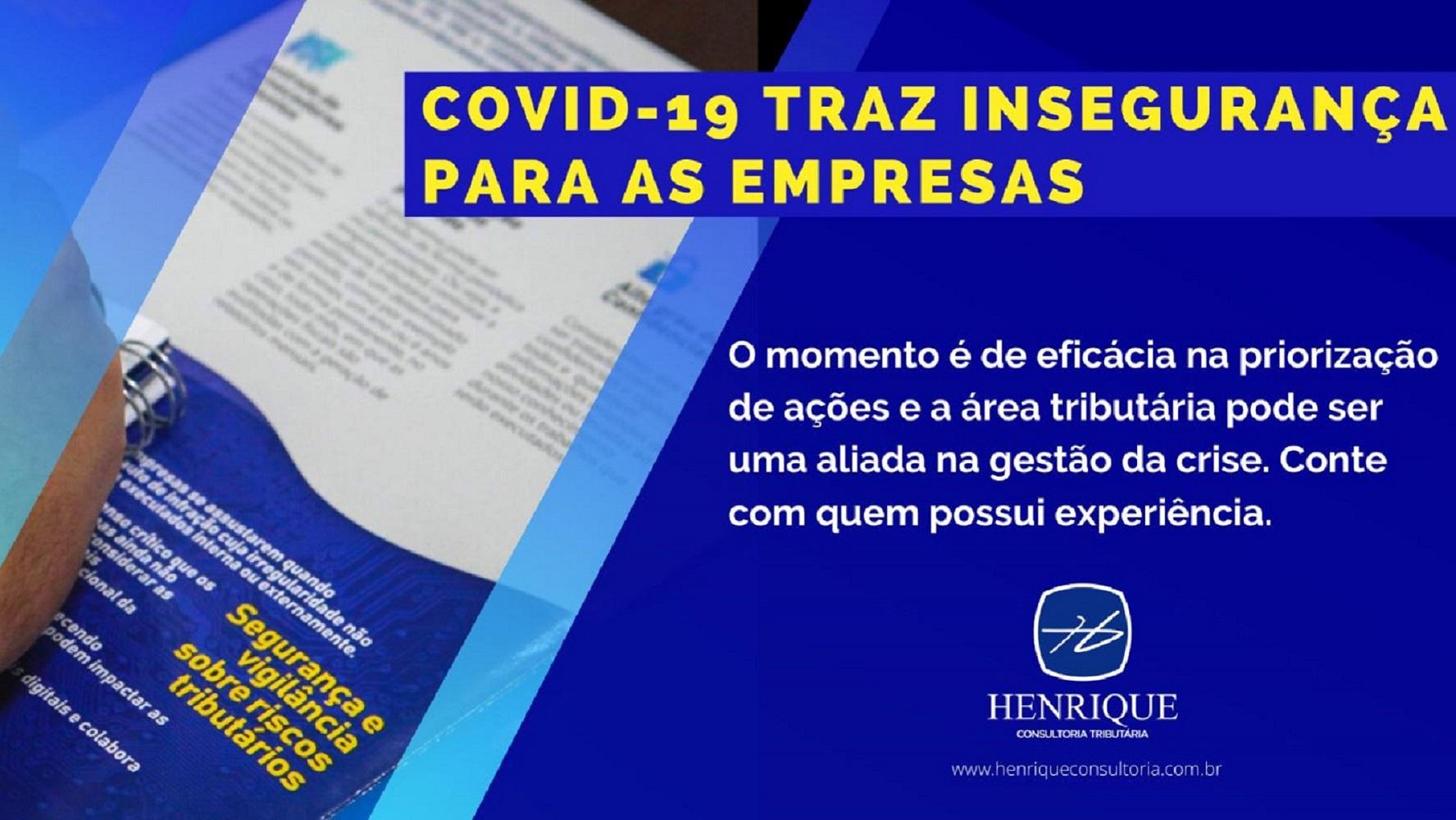 Imagem COVID-19 trás insegurança para as empresas